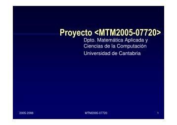 Proyecto  - Universidad de Cantabria