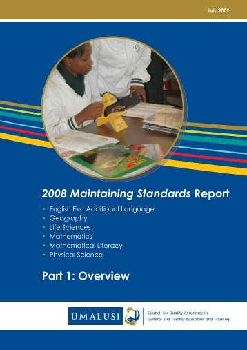 2008 Maintaining Standards Report - Umalusi