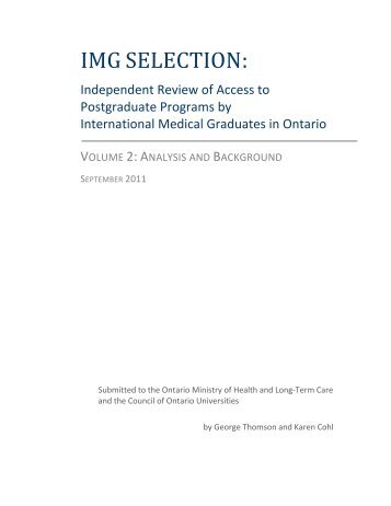IMG Review Volume 2 (September, 2011) - Post Graduate Medical ...