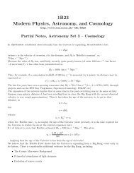 Lecture Notes – Cosmology - UCL Astronomy Group