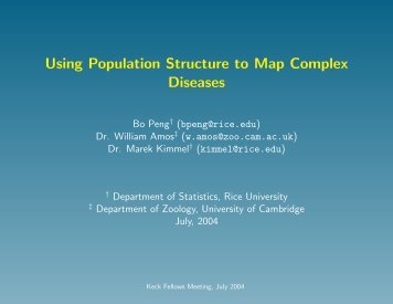 slides in pdf format - Department of Statistics - Rice University