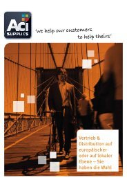 'we help our customers to help theirs' - Aci Supplies