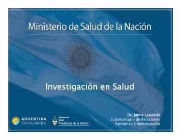 Investigación en Salud - Comisión Nacional Salud Investiga