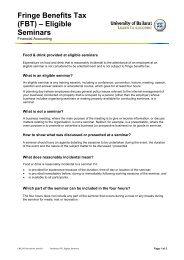 Fringe Benefits Tax (FBT) – Eligible Seminars