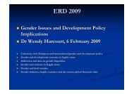 Gender Issues and Development Policy Implications, by ... - ERD