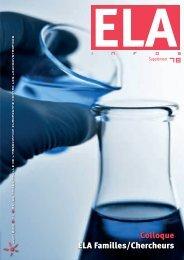Compte-rendu du colloque ELA 2012