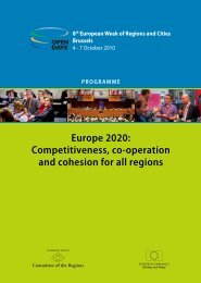 OPEN DAYS 2010 Final Programme - European Commission - Europa