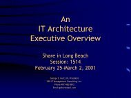 An IT Architecture Executive Overview - Tarrani.net