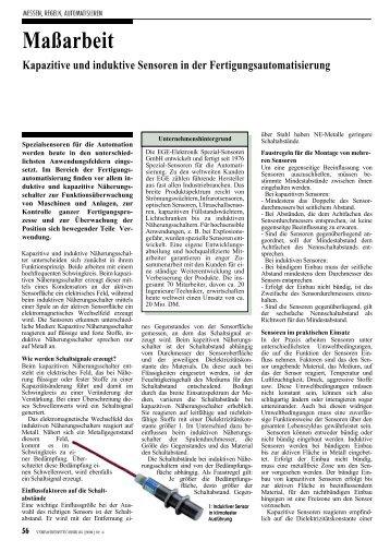 Verfahrenstechnik, Heft 35, Seite 56-57, April 2001 - EGE-Elektronik