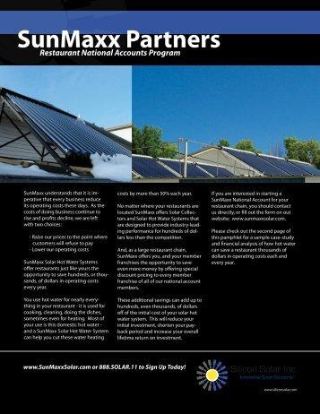 SunMaxx Partners - Solar Hot Water & Heating Manufacturer
