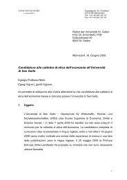Candidatura alla cattedra di etica dell'economia ... - Christoph Blocher