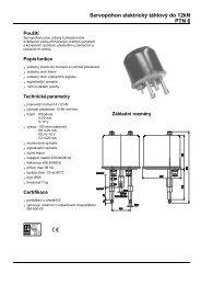 Servopohon elektrický táhlový do 12kN PTN 6