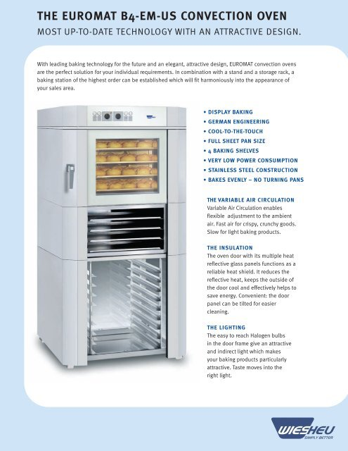 THE EUROMAT B4-EM-US CONVECTION OVEN - Wiesheu