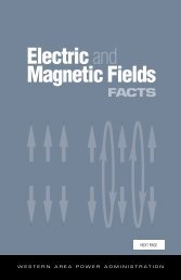 Electric and Magnetic Fields Facts - Western Area Power ...
