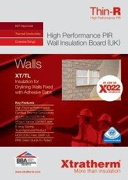 Thin-R XT/TL Brochure Download PDF - Xtratherm