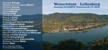 Weinerlebnis Loibenberg - TOP Heuriger