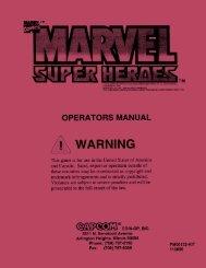 OPERATORS MANUAL - Arcade-History