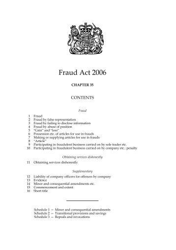 Fraud Act 2006 - Xact