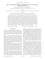 Effect of a magnetic field gradient and gravitational acceleration on a ...