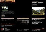 TAAE Symposium Brochure - Sapienza