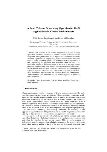A Fault Tolerant Scheduling Algorithm for DAG Applications in ...