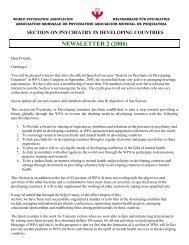 Newsletter 2 - World Psychiatric Association