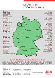 Einladung zur LEICA TOUR 2009 - Robust-pc.de