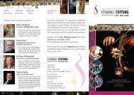 Grußworte unserer Freunde und Partner ... - Stommel-Stiftung