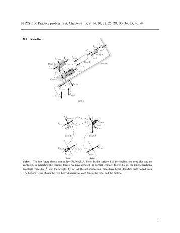 1 PHYS1100 Practice problem set, Chapter 8: 5, 9, 14, 20, 22, 25, 28 ...