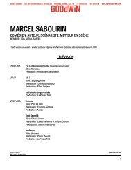 MARCEL SABOURIN - Agence Goodwin