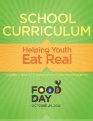 Food Day School Curriculum 2013