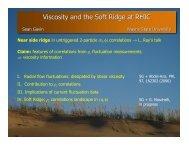 Viscosity and the Soft Ridge at RHIC - RHIG - Wayne State University