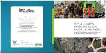 planos de gestão de resíduos sólidos: manual de orientação