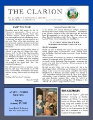 2013-01 Jan Clarion - St. Clement's Episcopal Church