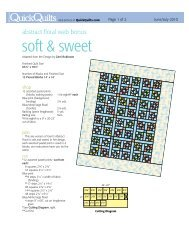 soft & sweet - McCalls Quilting
