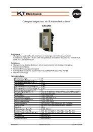 Typenblatt SaCo55 - KT-Elektronik