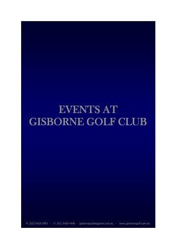 Events at Gisborne Golf Club.pub