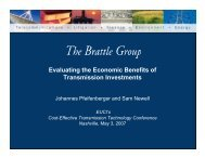 Evaluating the Economic Benefits of Transmission Investments