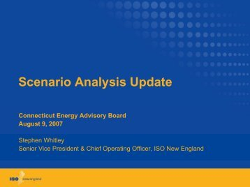 Scenario Analysis Update - Connecticut Energy Advisory Board
