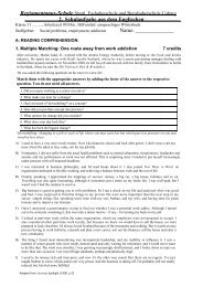 2. Schulaufgabe aus dem Englischen Name - Staatliche ...
