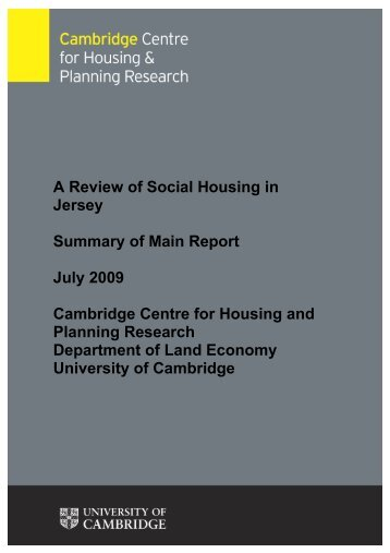 Review of social housing - Cambridge Centre for Housing and ...