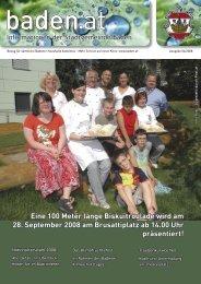 Herbsttermine 2008. - Baden