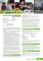 Australian Maritime College - Universities Admissions Centre