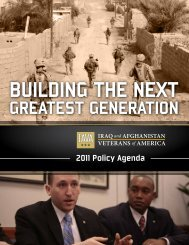 2011 Policy Agenda - Iraq and Afghanistan Veterans of America