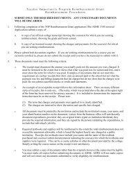 Reimbursement Documentation Requirements - Arkansas ...