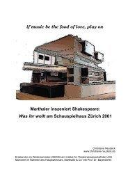 Über Christoph Marthalers Inszenierung von Shakespeares