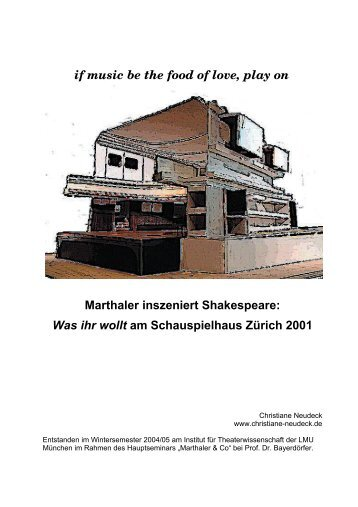 """Über Christoph Marthalers Inszenierung von Shakespeares """"Was ihr wollt"""" am Schauspielhaus Zürich 2001."""