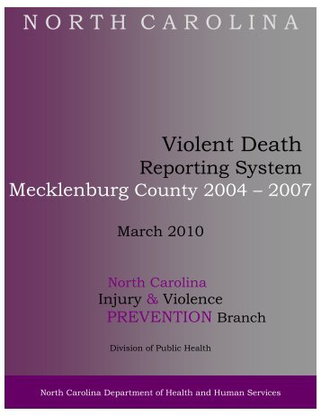 Mecklenburg 2004-2007 Final 5March2010 - NC Injury and ...