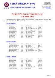 na rok 2012 - Český střelecký svaz