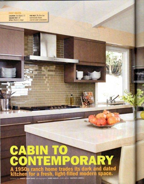 CABIN TO CONTEMPOR RY - Interior Design Seattle
